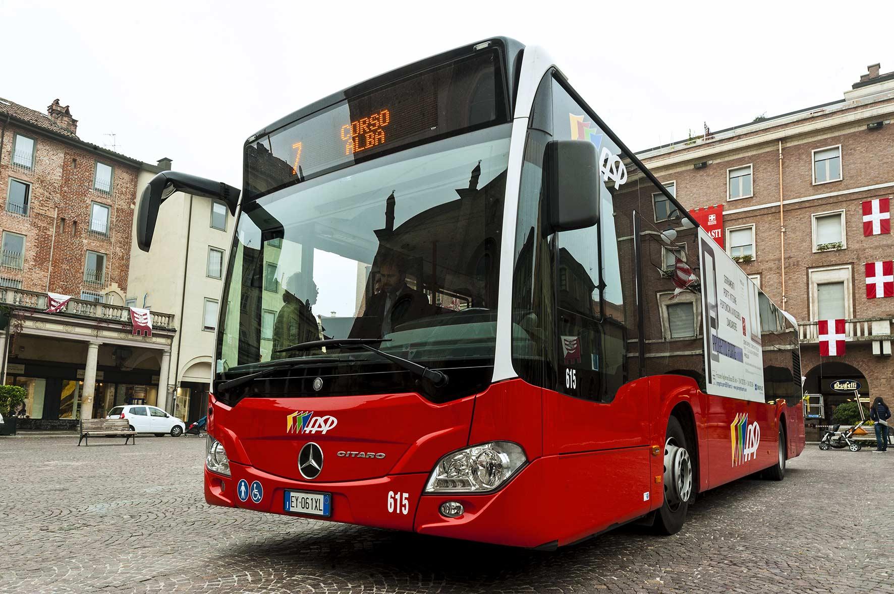 un bus della flotta Asp