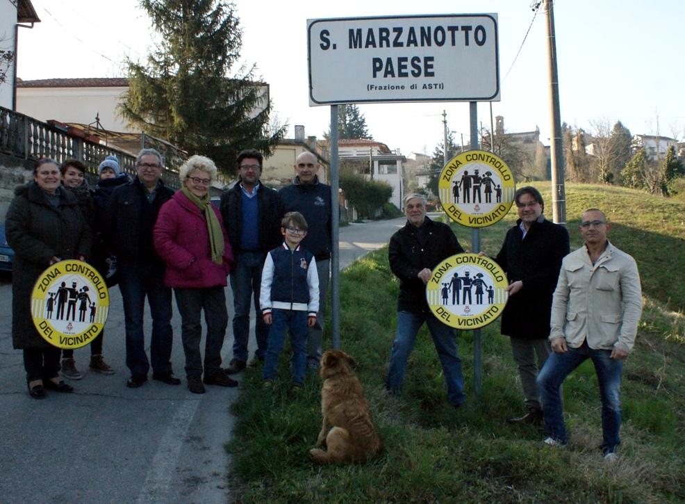 Nella foto: San Marzanotto, una delle prime frazioni ad aderire al controllo del vicinato