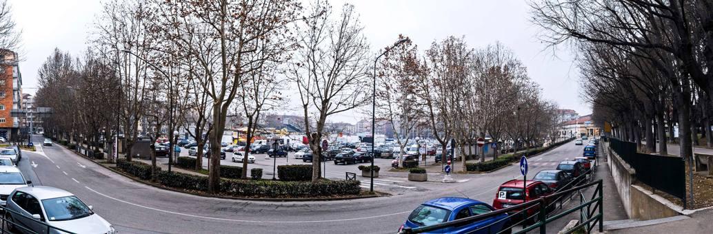 piazza Campo del Palio vista dal Parco della Resistenza