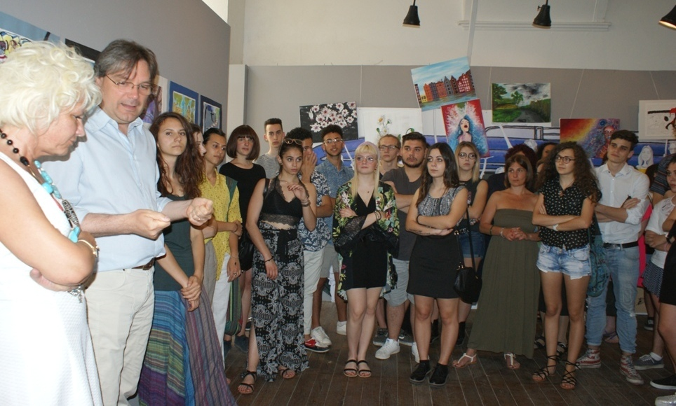 l'inaugurazione della mostra sabato a Palazzo Ottolenghi