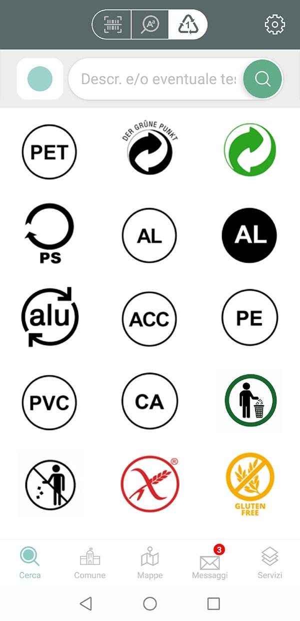 Schermata Junker - Simboli materiale